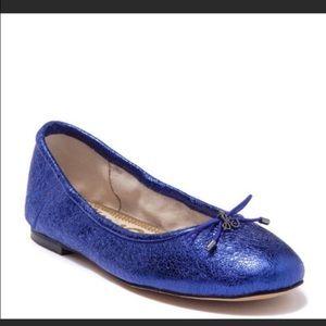 NEW Sam Edelman blue Felicia metallic ballet flats